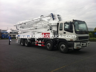 الصين 8x4 SSAB Steel ISUZU 47m Truck Mounted Concrete Pump / Delivery Equipment 390HP المزود