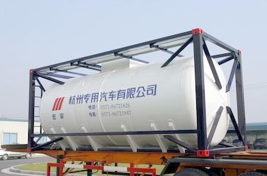 الصين Stainless Steel 20ft Liquid Tank Container 26000L International Shipping Standard موزع
